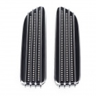 The Fine Prodcut CH-008 Vehicle Car Decorative Side Air Flow Vent Stickers - Black + Silver (2 PCS)