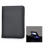 Protective PU Leather Case w / 1-LED Light for Amazon Kindle 4 - Black