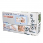 "Multifunções Wireless 2.4GHz 7"" LCD Baby Monitor w / 9-IR LED (NTSC / PAL) / Slot SD - Branco"