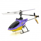 Great Wall 9958 2.4GHz 4-Channel Single-Propeller RC Helicopter - Purple + Yellow + Black