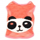 Panda Pattern Cute Cotton Hollow Vest for Pet Dog - Pink + White + Black (Size M)
