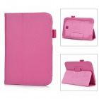 Lichee Pattern Protective PU Leather Case for Samsung Galaxy Note 8.0 - Deep Pink