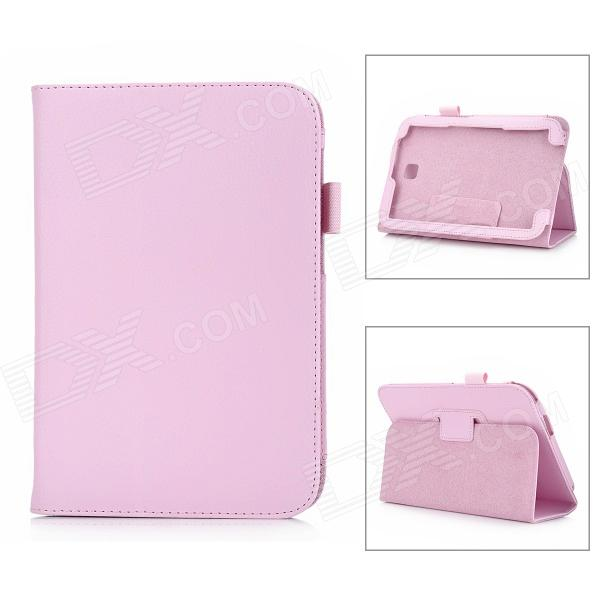 Protective Lichee Pattern PU Leather Case for Samsung Galaxy Note 8.0 - Pink