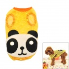 Panda Pattern Cute Cotton Hollow Vest for Pet Dog - Yellow + White + Black + Orange (Size M)
