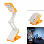 DP LED-667 Foldable 1.8W 160lm 6000K 22-SMD LED White Light Table Study Lamp w/ Clamp - Orange