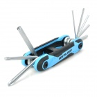 GUB HS083 Portable Bicycle Stainless Steel Repair Tool Kit Wrench Set - Blue + Black