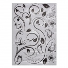 JM JM8254 Flower Pattern Decoration Wallpaper Sticker - Black + Transparent