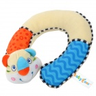 Baby cans Cute U-shape Cotton Infant Baby Neck Care Pillow - Light Yellow + Blue + Orange + White