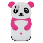 Cute Panda Style Protective Silicone Back Case for iPhone 5 - Deep Pink + White + Black