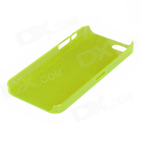 Irregular Pattern Protective Plastic Back Case for Iphone 5 - Translucent Yellow стоимость