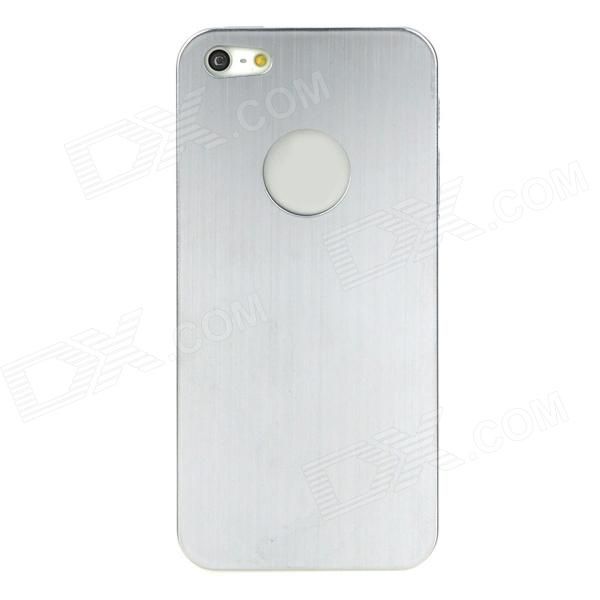 Brushed Metal Protective Titanium Alloy Back Case for Iphone 5 - Silver + Black
