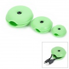 Turtle Shell Style PVC Draht / Kabel Winder / Collector - Green (3 PCS)