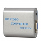 480P / 720p / 1080i /1080p HDMI to VGA + 3.5mm Audio Jack Converter - Deep Grey