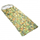 Envelope Style Outdoor Camping Protective Sleeping Bag w/ Hood - Camouflage Green