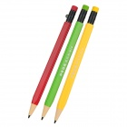 300 Synthetic Plastics + Graphite Continual Writing Pencil - Yellow + Green + Deep Red (3 PCS)