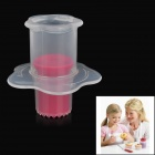 Syringe Piston Style Food Cake Mold Hole Digger - Red + Translucent