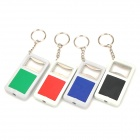 LED White Light Keychain Bottle Opener - Black + Purple + Green + Red (3 x LR41 / 4 PCS)