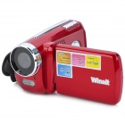 "Winait DV139 1.8"" TFT 300KP CMOS Digital Video Camcorder w/ 4X Digital Zoom / Mini USB - Red"