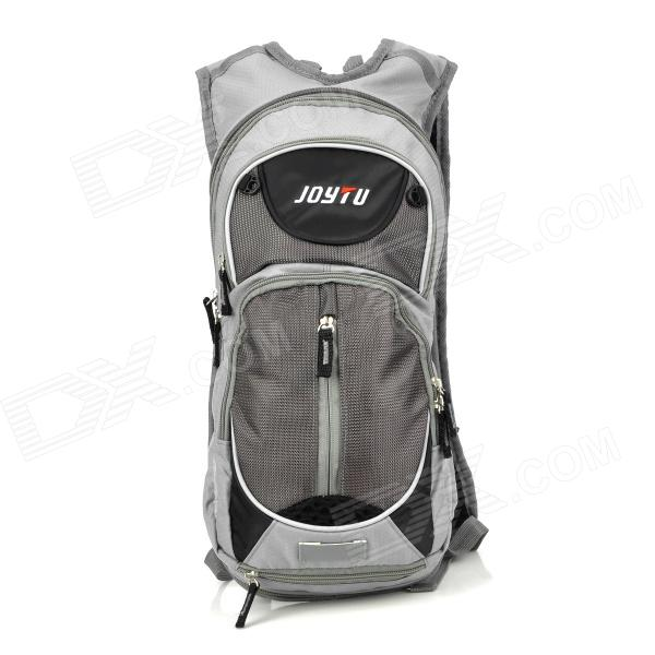 JOYTU 01038 Outdoor Cycling Dual-Zipper Waterproof Nylon Backpack - Grey (0.66kg)
