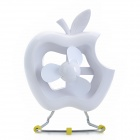 PL048 Nette Apple Shape USB Power Fan - White (DC 5V)