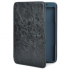Stylish Protective PU Leather Case w/ LED Reading Light for Amazon Kindle 4 - Black