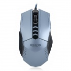 A-JAZZ Griffin 1000/2000/3000/4000 DPI 8-Key Wired USB Optical Gaming Mouse - Black + Silver Grey
