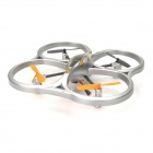 HCW553 Four-Axis 4-CH 2.4GHz Remote Control R/C Aircraft Toy w/ Gyro / LED - Silver