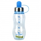 XILE XL-3504 Sport PC Water Bottle Cup - Transparent + Blue + Silver (550ml)