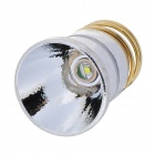 16mm CREE XR-E Q5 120~200lm Bulb Board + Aluminum Textured Reflector - White + Silver + Golden