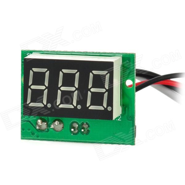 C20D 3-digit 0.56 Blue LED Digital Ammeter Meter Module - Black + Green 100 pcs ld 3361ag 3 digit 0 36 green 7 segment led display common cathode