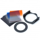 SZSY201301 Gradual Lens Filters + ND4 + ND8 + Mount + Ring Set for 58mm Lens Camera - Black (8 PCS)