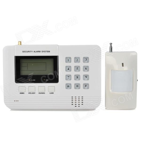 "Heacent AD001 2.6"" LCD Auto-dial Household Security GSM Intelligent Alarm System - White"