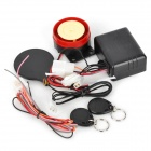 Motorcycle Anti-Theft Security IC Chip Induction Alarm - Black + Red