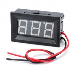 V27D 3-Digit LED Display Panel Digital Voltmeter - Black (DC 3.0-30V)