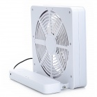 ZT-821 821 Square-Shaped USB Powered Speed 2-Mode Fan - White (4 x AA)