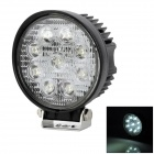 YCWL-0627 Round Shaped 27W 1800lm 6500K Vehicle 9-LED White Light Lamp - Black
