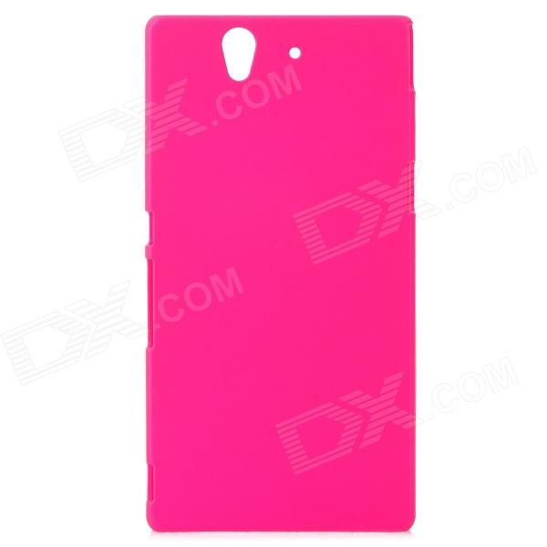 Stylish Protective Plastic Back Case for Sony Xperia Yuga C6603 - Deep Pink protective pvc back case for sony xperia zl l35h black