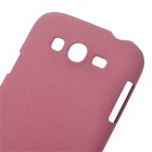 Ultrathin Protective Frosted PC Back Case for Samsung i9082 - Purple Red