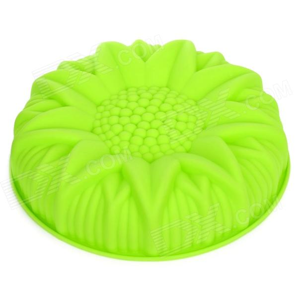 Sunflower Style Silicone DIY Cake Dessert Mold - Green diy decorative butterfly style fondant cake silicone module green