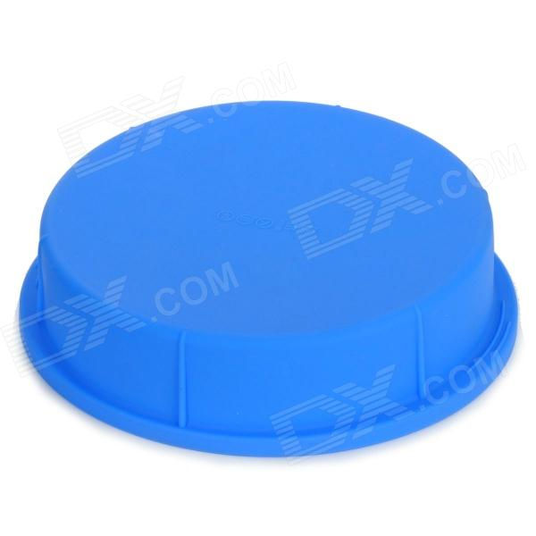 Round Shape Silicone DIY Cake Dessert Mold - Blue round shape pizza wheat cake silicone maker diy silicone mold tray red