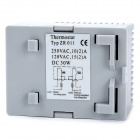 ZR011 2-Channel Normally Close / Open Temperature Controller - Grey (0~60'C)