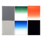 Graduated Neutral Density ND Color Filter Set - Black + Transparent (6PCS)