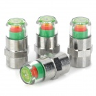 Tire Pressure Warning Monitoring Indicator Valve Caps - Silver (4PCS)