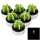 WL032 Carambola Style Household Decorative Candle Candlestick - Green + Silver + Black (6 PCS)