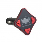 87,5-108MHz Car MP3 FM Transmitter w / Micro SD / USB / Fernbedienung - Schwarz + Rot