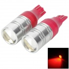 DGLD201311 Highlight T10 3W 150lm 625~635nm LED Red Light Car Brake light - (12V)