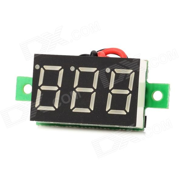 "V20D Dual-Wire 0.36"" LED Digital Voltmeter Module w/ Fine Adjustment - Black + White (DC 3.0~30V)"
