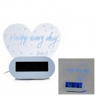 Multi-Function Message Board Thermometer 4-Port USB Hub Alarm Clock w/ Highlighter - White (2 x AAA)