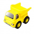 9109 Non-toxic Plastic Sand Beach Toy 4-Wheel Truck w/ Tipping Bucket for Kids - Yellow