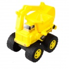9108 Non-toxic Plastic Sand Beach Toy 4-Wheel Truck Excavator w/ Tipping Bucket for Kids - Yellow